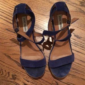 Steve Madden royal blue suede shoes Sz 9.5
